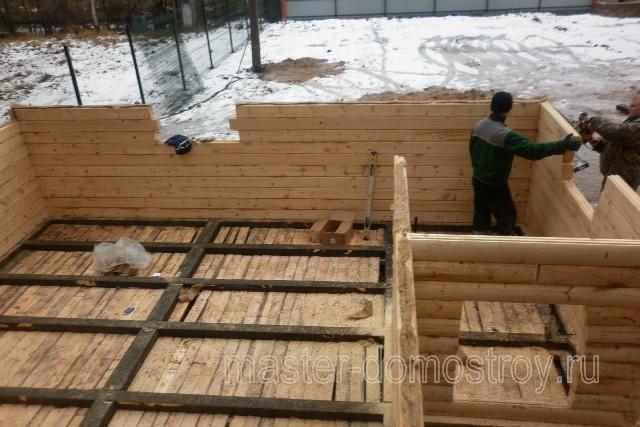 Фотоотчет о строительстве дома-бани 6х6 м из профилированного бруса в Московской области