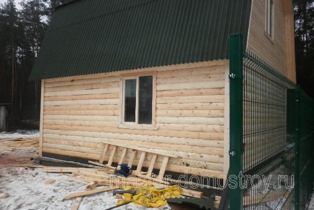 дом-баня 6х6 из бруса вид сбоку