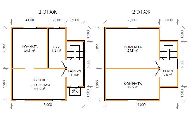 Дом 8х8 одноэтажный своими руками 22